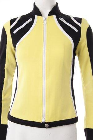 Hallhuber Sweatjacke gelb-schwarz