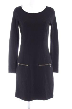 Hallhuber Vestido de tela de sudadera negro look Street-Style