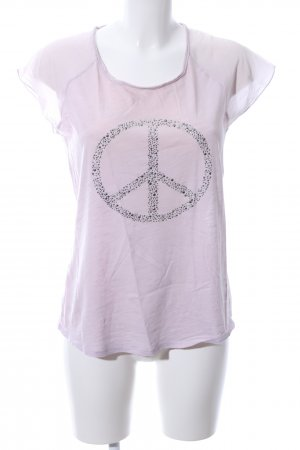 Hallhuber T-Shirt pink Motivdruck Casual-Look