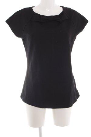 Hallhuber T-Shirt schwarz Business-Look