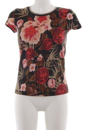 Hallhuber T-Shirt Blumenmuster Casual-Look