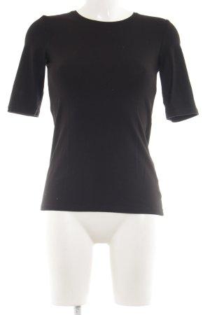 Hallhuber T-Shirt schwarz Elegant