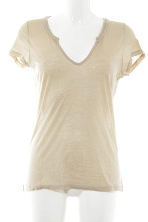 Hallhuber T-shirt beige style décontracté