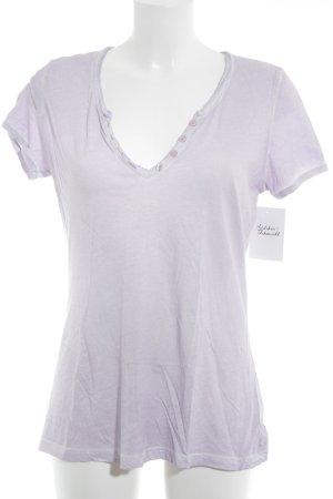 Hallhuber T-Shirt blasslila Casual-Look