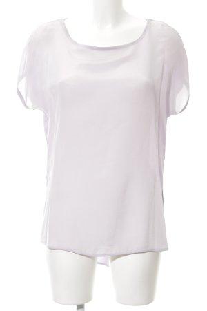 Hallhuber T-Shirt blasslila schlichter Stil