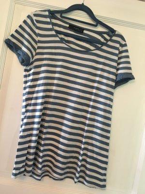 Hallhuber T-Shirt blau / weiß Streifen Gr. M