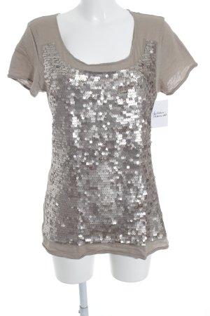 Hallhuber T-Shirt camel-graubraun Casual-Look