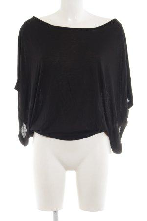 Hallhuber T-Shirt schwarz Casual-Look