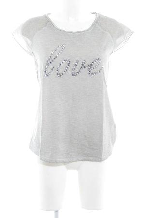 Hallhuber T-shirt gris moucheté style décontracté