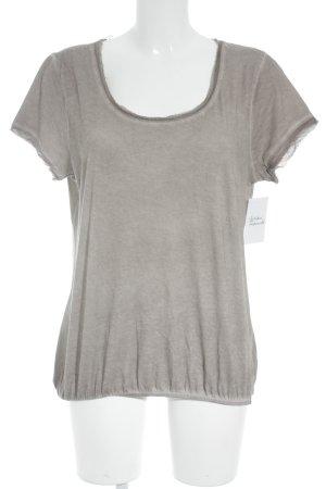 Hallhuber T-Shirt graubraun Casual-Look