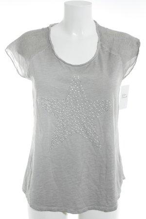Hallhuber T-shirt marrone-grigio con glitter