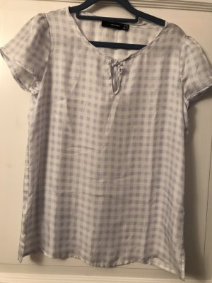 Hallhuber T-Shirt hellblau / weiß Karo Gr. 36