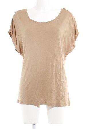 Hallhuber T-Shirt hellbraun-camel Casual-Look