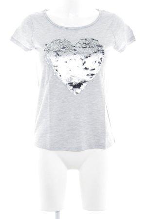 Hallhuber T-shirt gris clair style mode des rues