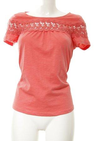 Hallhuber T-Shirt hellrot Casual-Look