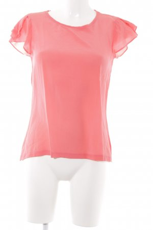 Hallhuber T-shirt rouge clair style simple