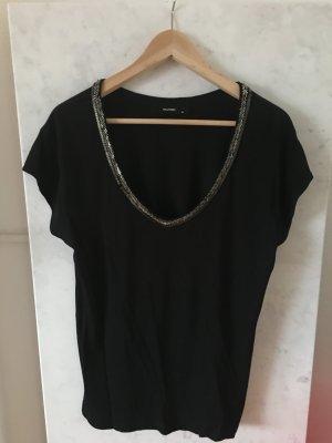 *Hallhuber* T-Shirt in schwarz
