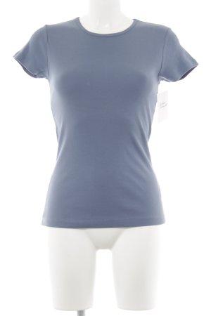 Hallhuber T-Shirt kornblumenblau Casual-Look