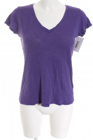 Hallhuber T-Shirt lila Casual-Look