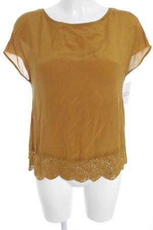 Hallhuber T-Shirt sandbraun Romantik-Look