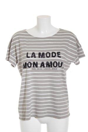 Hallhuber T-Shirt Schriftzug gedruckt Street-Fashion-Look