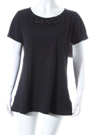 Hallhuber T-Shirt schwarz extravaganter Stil