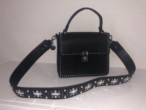Hallhuber Gekruiste tas zwart-zilver