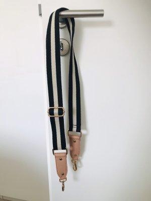 Hallhuber Cinturón de tela negro-color rosa dorado