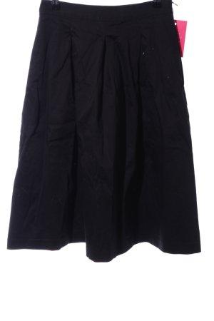 Hallhuber Jupe corolle noir style décontracté