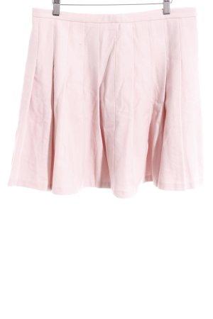 Hallhuber Falda circular rosa empolvado look casual