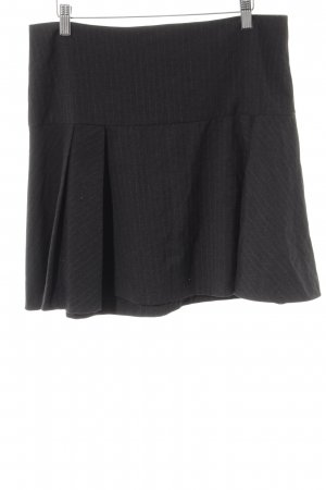 Hallhuber Circle Skirt anthracite-grey pinstripe business style
