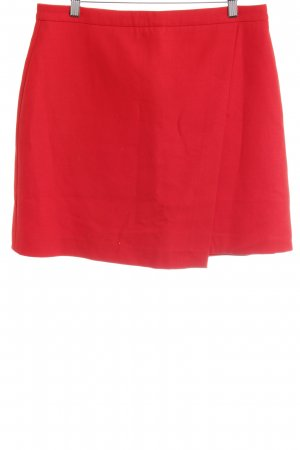 Hallhuber Falda circular rojo look casual