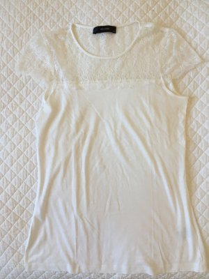 Hallhuber Lace Top white cotton