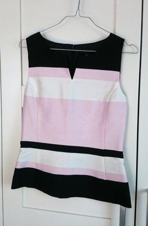 Hallhuber Top Shirt rosa weiß schwarz Gr. XS Gr. 34  NEU