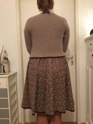 Hallhuber Traditional Jacket dark violet-dusky pink wool