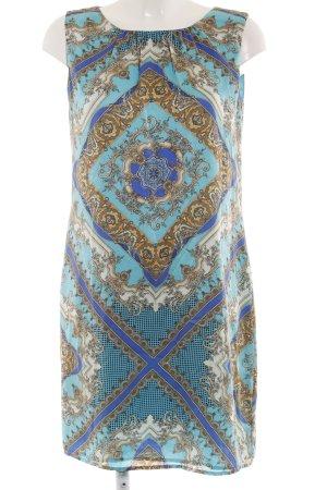 Hallhuber Trägerkleid abstrakter Druck Elegant