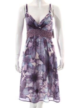 Hallhuber Robe à bretelles motif floral style décontracté