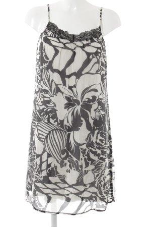 Hallhuber Trägerkleid schwarz-weiß florales Muster Romantik-Look