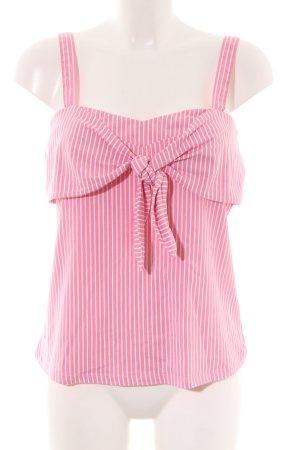 Hallhuber Trägertop pink-weiß Streifenmuster Casual-Look