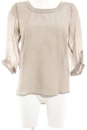 Hallhuber Transparenz-Bluse beige Casual-Look