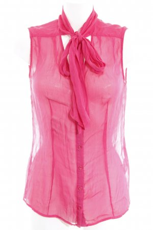 Hallhuber Transparenz-Bluse pink Transparenz-Optik
