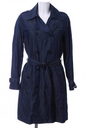 Hallhuber Trenchcoat blau Business-Look