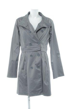 Hallhuber Trenchcoat grau-silberfarben Casual-Look
