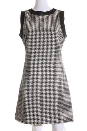 Hallhuber trend A-Linien Kleid schwarz-weiß Allover-Druck Business-Look