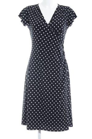 Hallhuber trend A-Linien Kleid schwarz-weiß Punktemuster 60ies-Stil
