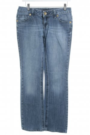 Hallhuber trend Boot Cut Jeans stahlblau Destroy-Optik