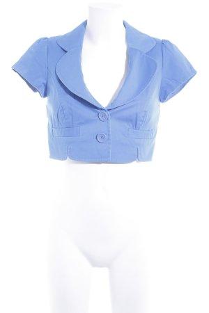 Hallhuber trend Kurz-Blazer neonblau schlichter Stil