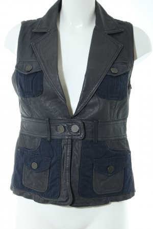 Hallhuber trend Leather Vest black casual look
