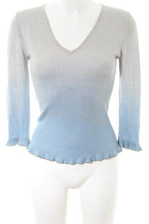 Hallhuber trend Longsleeve hellgrau-blau Farbverlauf Casual-Look