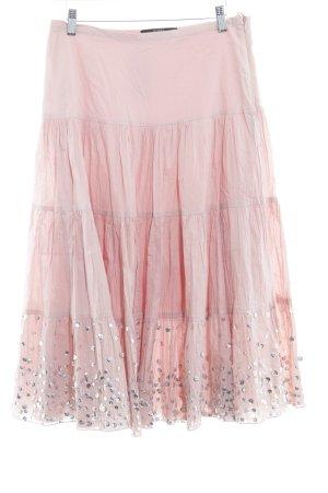 Hallhuber trend Jupe longue rosé-argenté style décontracté
